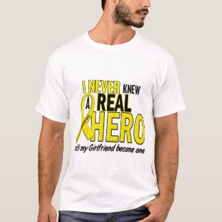 Sarcoma NEVER KNEW A HERO 2 Girlfriend T-Shirt