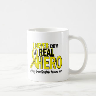 Sarcoma NEVER KNEW A HERO 2 Granddaughter Basic White Mug
