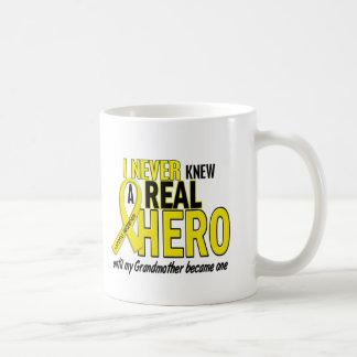 Sarcoma NEVER KNEW A HERO 2 Grandmother Basic White Mug