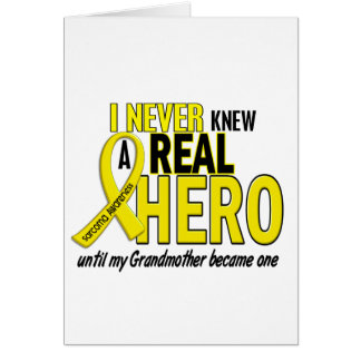 Sarcoma NEVER KNEW A HERO 2 Grandmother Greeting Cards