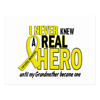 Sarcoma NEVER KNEW A HERO 2 Grandmother Postcard