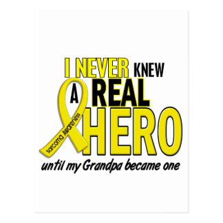Sarcoma NEVER KNEW A HERO 2 Grandpa Postcard