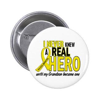 Sarcoma NEVER KNEW A HERO 2 Grandson 6 Cm Round Badge