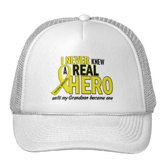 Sarcoma NEVER KNEW A HERO 2 Grandson Hat