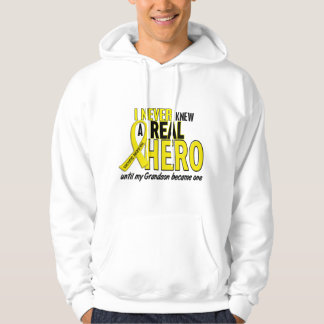 Sarcoma NEVER KNEW A HERO 2 Grandson Hoodie