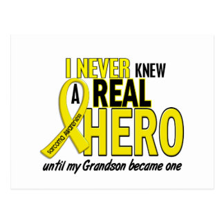 Sarcoma NEVER KNEW A HERO 2 Grandson Postcard