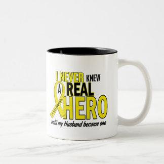 Sarcoma NEVER KNEW A HERO 2 Husband Two-Tone Mug