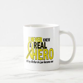 Sarcoma NEVER KNEW A HERO 2 Mother-In-Law Basic White Mug
