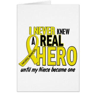 Sarcoma NEVER KNEW A HERO 2 NIECE Cards