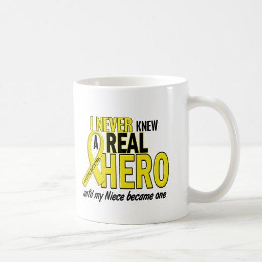 Sarcoma NEVER KNEW A HERO 2 NIECE Coffee Mugs