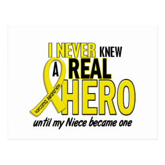 Sarcoma NEVER KNEW A HERO 2 NIECE Postcard