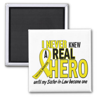 Sarcoma NEVER KNEW A HERO 2 Sister-In-Law Magnet