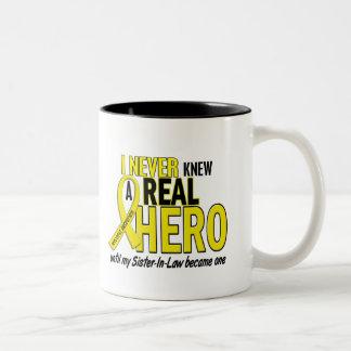 Sarcoma NEVER KNEW A HERO 2 Sister-In-Law Mug