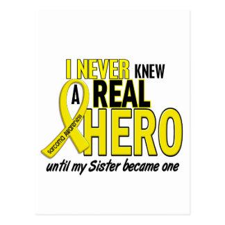 Sarcoma NEVER KNEW A HERO 2 Sister Post Card