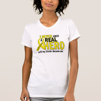 Sarcoma NEVER KNEW A HERO 2 Sister T-Shirt