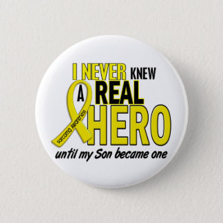 Sarcoma NEVER KNEW A HERO 2 Son 6 Cm Round Badge