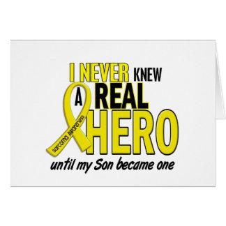 Sarcoma NEVER KNEW A HERO 2 Son Card
