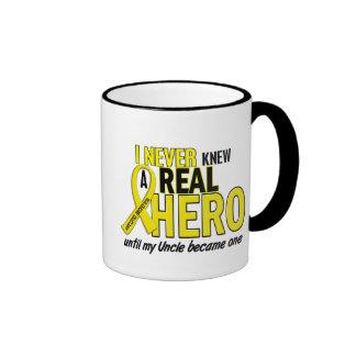 Sarcoma NEVER KNEW A HERO 2 Uncle Ringer Mug