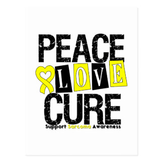 Sarcoma Peace Love Cure Postcard