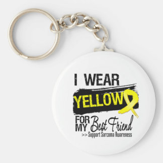 Sarcoma Ribbon For My Best Friend Basic Round Button Key Ring