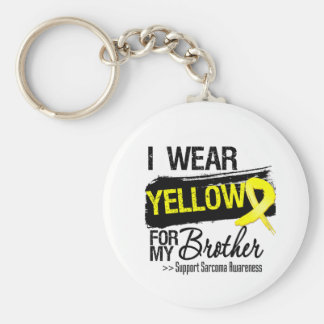 Sarcoma Ribbon For My Brother Basic Round Button Key Ring