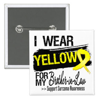 Sarcoma Ribbon For My Brother-in-Law 15 Cm Square Badge