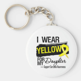 Sarcoma Ribbon For My Daughter Basic Round Button Key Ring