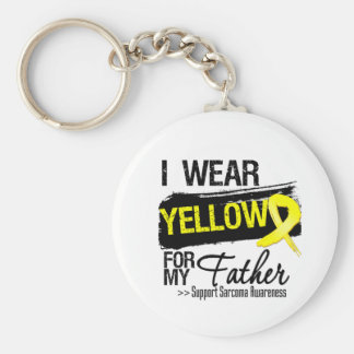 Sarcoma Ribbon For My Father Basic Round Button Key Ring