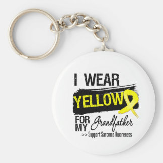 Sarcoma Ribbon For My Grandfather Basic Round Button Key Ring