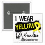 Sarcoma Ribbon For My Grandson 15 Cm Square Badge