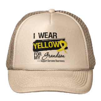 Sarcoma Ribbon For My Grandson Cap