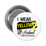 Sarcoma Ribbon For My Husband 6 Cm Round Badge