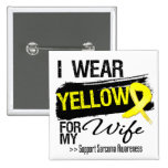 Sarcoma Ribbon For My Wife 15 Cm Square Badge