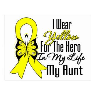 Sarcoma Ribbon My Hero My Aunt Postcard