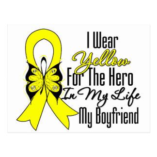 Sarcoma Ribbon My Hero My Boyfriend Postcard