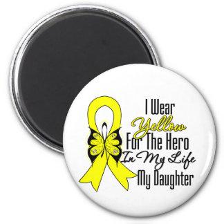 Sarcoma Ribbon My Hero My Daughter 6 Cm Round Magnet