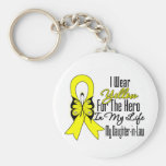Sarcoma Ribbon My Hero My Daughter in Law Basic Round Button Key Ring