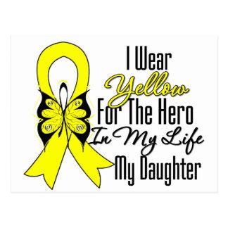Sarcoma Ribbon My Hero My Daughter Postcard