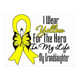 Sarcoma Ribbon My Hero My Granddaughter Postcard
