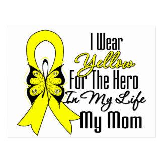 Sarcoma Ribbon My Hero My Mom Postcard