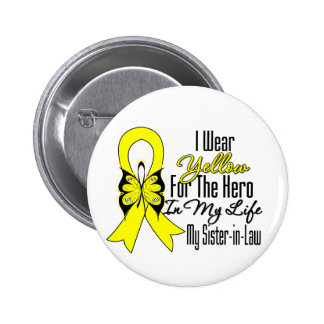 Sarcoma Ribbon My Hero My Sister in Law 6 Cm Round Badge