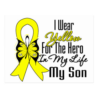 Sarcoma Ribbon My Hero My Son Postcard