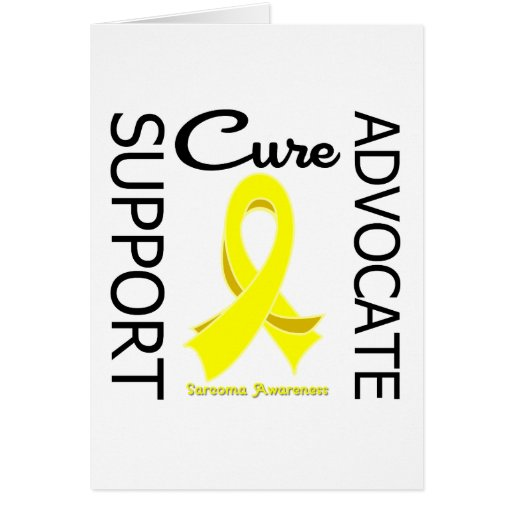 Sarcoma Support Advocate Cure Greeting Card