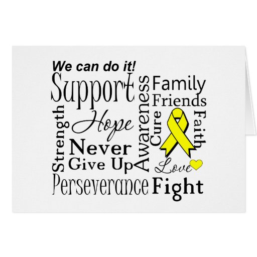Sarcoma Supportive Words Greeting Cards