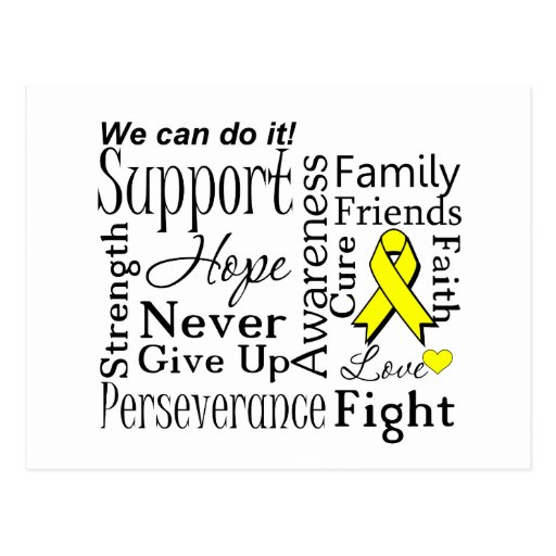 Sarcoma Supportive Words Postcard
