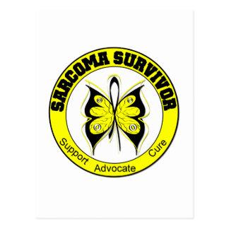 Sarcoma Survivor Butterfly Postcard