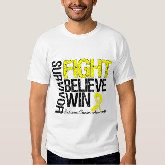 Sarcoma Survivor Fight Believe Win Motto Tshirt