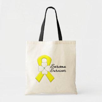 Sarcoma Survivor Flower Ribbon Bags