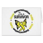 Sarcoma Survivor Hope Determination Faith Greeting Card