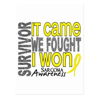 Sarcoma Survivor It Came We Fought I Won Post Card